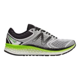 New Balance Men's Fresh Foam 1080v7 2E Wide Width Running Shoes - White/Lime
