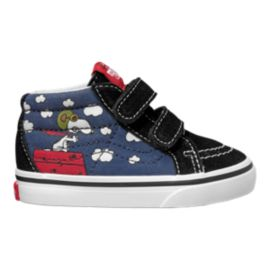 Vans Toddler Peanuts SK8 Mid Reissue Flying Ace Shoes - Blue/Black