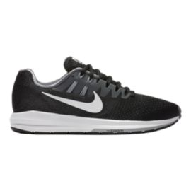 Nike Men's Air Zoom Structure 20 Running Shoes - Black/Grey/White