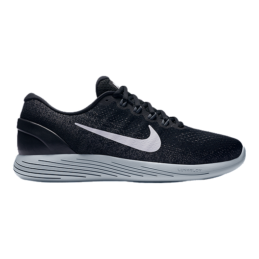 2b96b3d9eb2 Nike Men s LunarGlide 9 Running Shoes - Black White