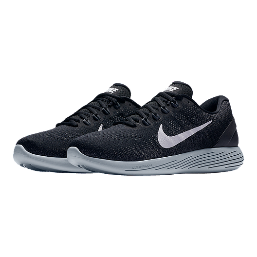 ad8ee0cc9cd3f Nike Men s LunarGlide 9 Running Shoes - Black White. (1). View Description