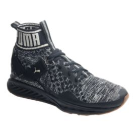 PUMA Men's Ignite evoKNIT Hypernature Shoes - Black/White