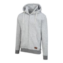 Quiksilver Men's Keller Full Zip Hoodie - Light Grey Heather