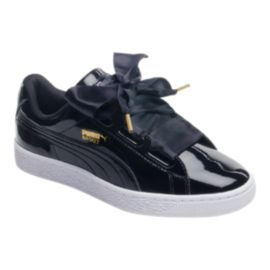 PUMA Women's Basket Heart Shoes - Black