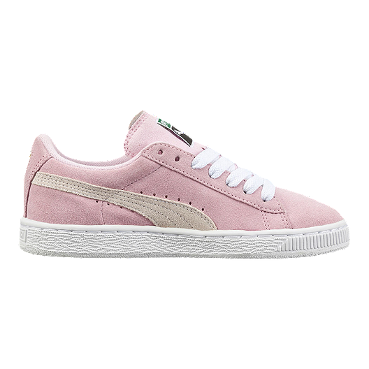 huge selection of 7b5f6 64802 PUMA Girls' Suede Grade School Shoes - Pink/White
