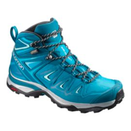 Salomon Women's X Ultra 3 Mid GTX Hiking Boots - Lagoon/Blue