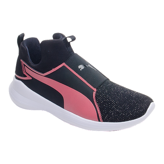 Girls' Shoes Mid School Rebel Puma Blackrose Grade vn8wNm0