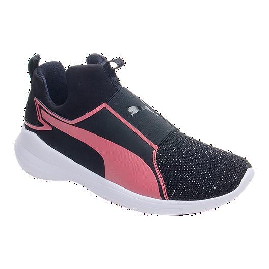6a1bc95d2 PUMA Girls  Rebel Mid Grade School Shoes - Black Rose