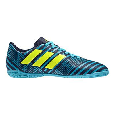 adidas Kids\u0027 Nemeziz 17.4 Indoor Soccer Shoes - Blue/Yellow/Black
