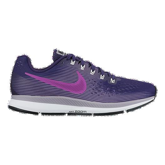 98a0de27191e2 Nike Women s Air Zoom Pegasus 34 Running Shoes - Ink Violet Purple ...