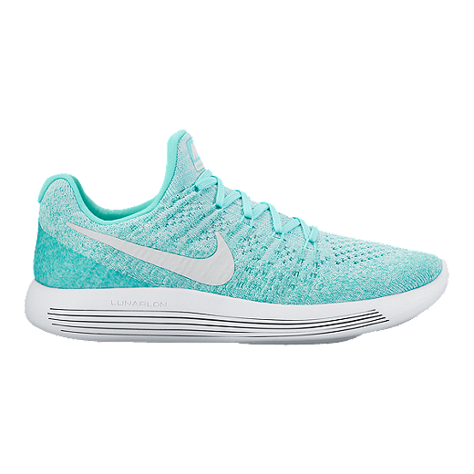 official photos 784c6 1ed1c Nike Women's LunarEpic Low Flyknit 2 Running Shoes - Turqoise/White