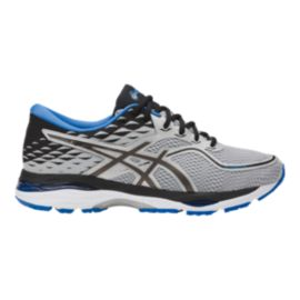ASICS Men's Gel Cumulus 19 2E Wide Width Running Shoes - Grey/Black/Blue