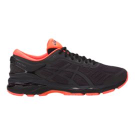 ASICS Men's Gel Kayano 24 LS Running Shoes - Black/Orange