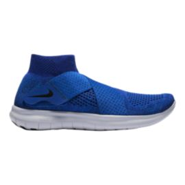 Nike Men's Free RN Motion Flyknit 2017 Running Shoes - Blue