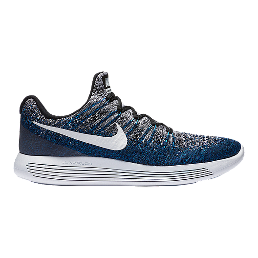 00577e8538ea Nike Men s LunarEpic Low FlyKnit 2 Running Shoes - Grey Blue White ...