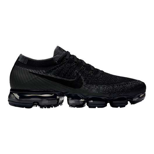 b2f63530e06 Nike Men s Air VaporMax FlyKnit Running Shoes - Black Dark Grey ...