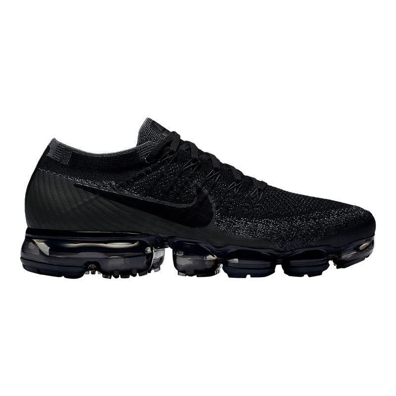 7024661f28550 Nike Men s Air VaporMax FlyKnit Running Shoes - Black Dark Grey ...