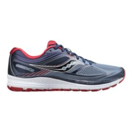 Saucony Men's Everun Guide 10 Running Shoes - Grey/Navy/Red