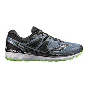 122b03b9bf86 Saucony Men s Everun Triumph ISO 3 Running Shoes - Grey Black Green