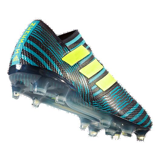 6cb172fb988 adidas Men's Nemeziz 17+ 360 Agility FG Outdoor Soccer Cleats - Black/Solar  Yellow