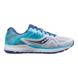 Saucony Women's Everun Ride 10 Wide Width Running Shoes - White/Blue