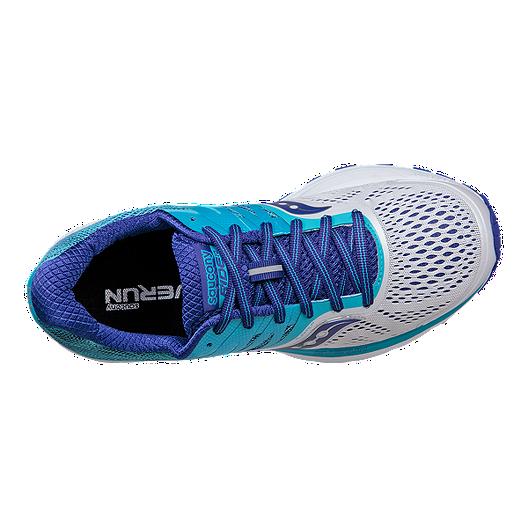 1f954524756 Saucony Women s Everun Ride 10 Wide Width Running Shoes - White Blue. (0).  View Description