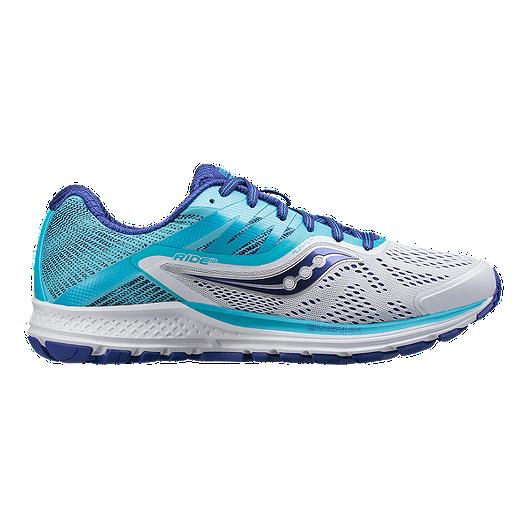 f37303177d2 Saucony Women s Everun Ride 10 Running Shoes - White Blue