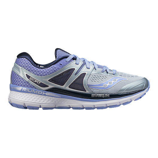 d5f7f989824 Saucony Women s Everun Triumph ISO 3 Running Shoes - Grey Purple ...