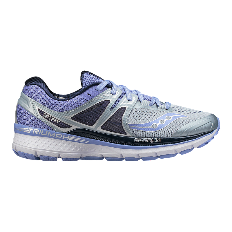Abnormal biography for  Saucony Women's Everun Triumph ISO 3 Running Shoes - Grey/Purple | Sport  Chek