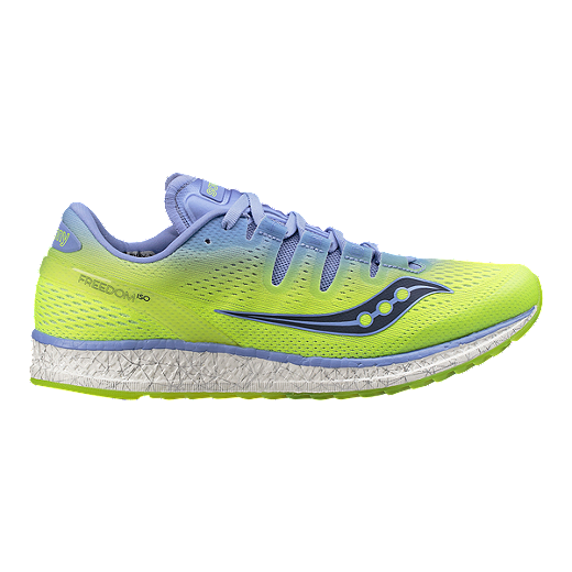 e651894d Saucony Women's Everun Freedom ISO Running Shoes - Purple/Yellow ...