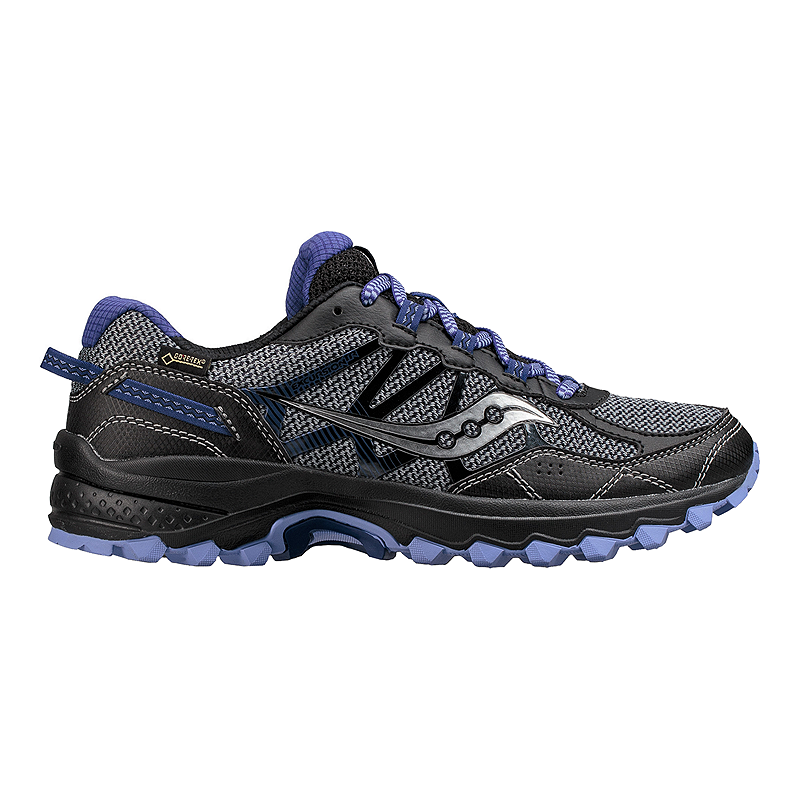 Saucony Women S Excursion Tr11 Gtx Trail Running Shoes Grey Black Purple
