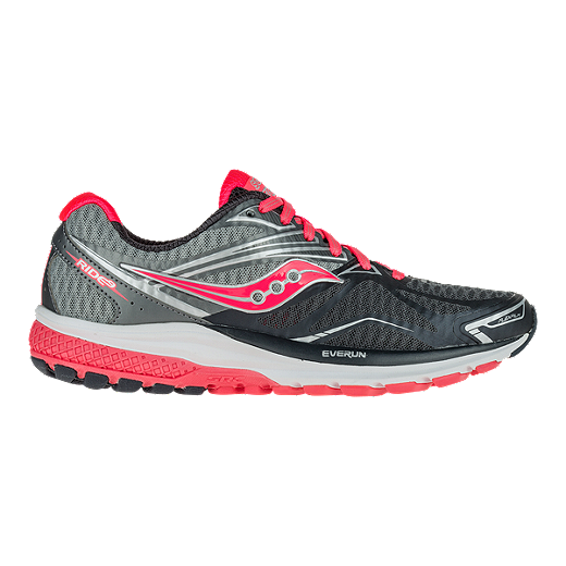 Saucony Women's Everun Ride 9 Running Shoes GreyCoral