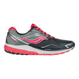 Saucony Women's Everun Ride 9 Running Shoes - Grey/Coral