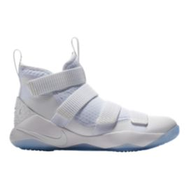 Nike Men's LeBron Soldier XI Basketball Shoes - White/Platinum