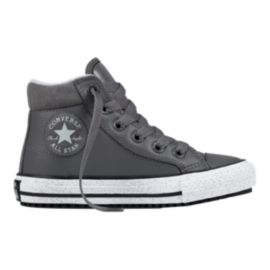 Converse Kids' All Star Leather Boots - Grey/White
