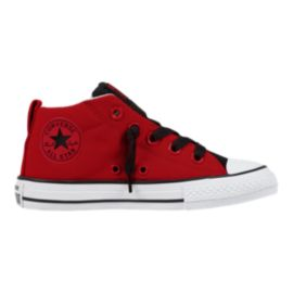 Converse Kids' Chuck Taylor All Star Street Mid Shoes - Red/Black/White