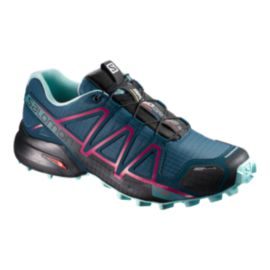 Salomon Women's Speedcross 4 CS Trail Running Shoes - Blue/Navy