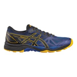 ASICS Men's Gel Fujitrabuco 6 GTX Running Shoes - Blue/Black/Yellow