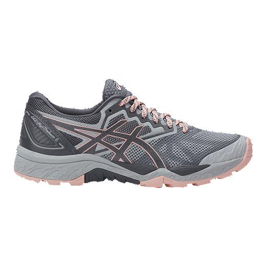 ASICS GEL-FUJITRABUCO 6 - Trail running shoes - carbon/red alert