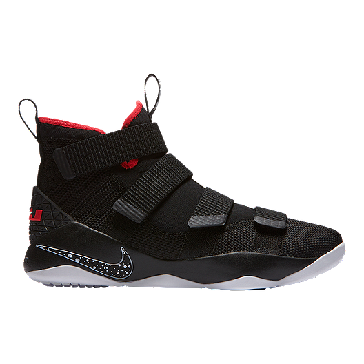 6529606fb75e2 Nike Men s LeBron Soldier XI Basketball Shoes - Black Red