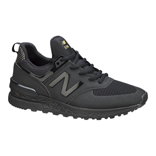 reputable site f2aa7 679c2 New Balance Women's 574 Sport Shoes - Black/Gold | Sport Chek