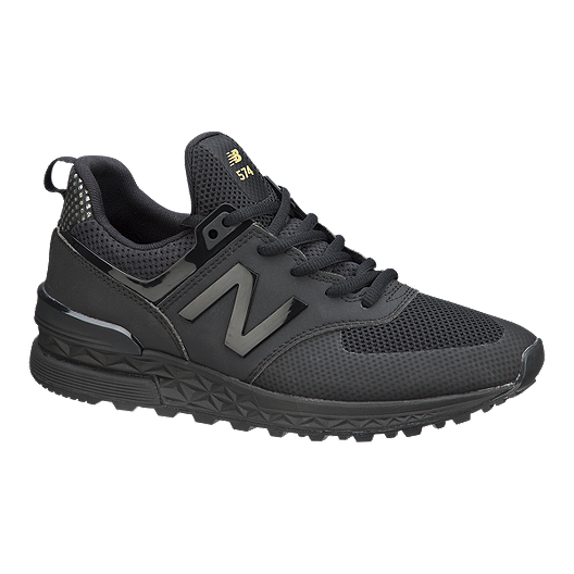 3425e696a8840 New Balance Women's 574 Sport Shoes - Black/Gold | Sport Chek