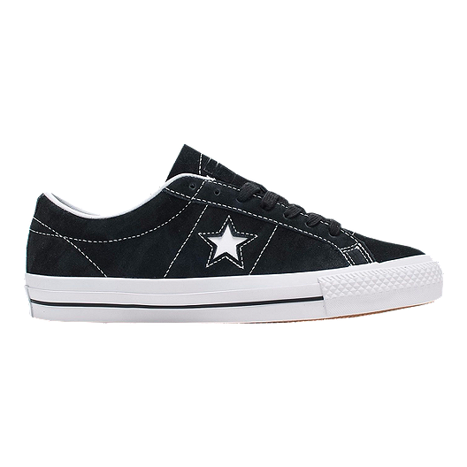 fbd5f871fa7f Converse One Star Pro Suede Ox Shoes - Black White