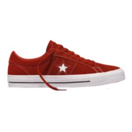 Converse One Star Pro Suede Ox Shoes - Tierra/Red