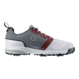 FootJoy Men's ContourFIT Golf Shoes - White/Grey/Red