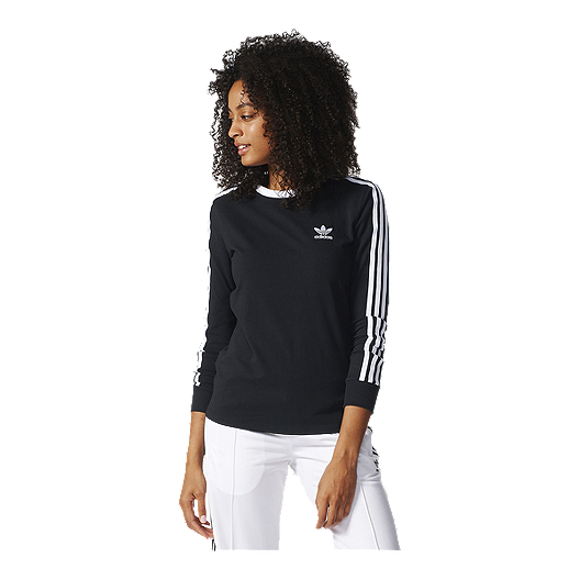 exclusive deals custom casual shoes adidas Originals Women's 3-Stripes Long Sleeve Shirt | Sport ...