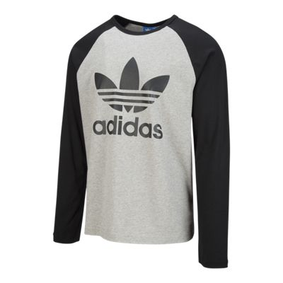 adidas Originals Men's Trefoil Long Sleeve T Shirt