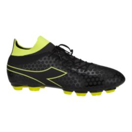 Diadora Men's Primo FG Outdoor Soccer Cleats - Black/Yellow