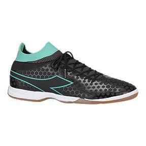 Diadora Women s Primo Indoor Soccer Shoes - Black Teal 3f48bf2341