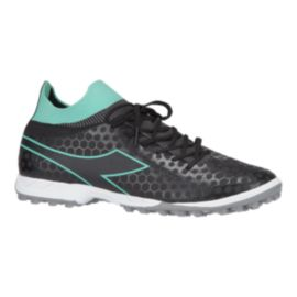 Diadora Women's Primo Turf Indoor Soccer Shoes - Black/Teal